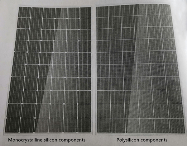 Single crystal silicon and polycrystalline silicon photovoltaic modules connected in series with 60 cells